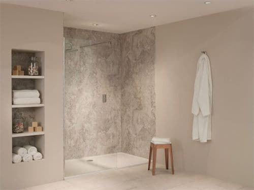 Nuance Alcove Kit F For Large Three Wall Shower Recess - Various Colours